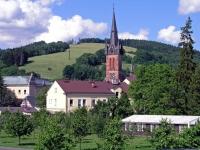 Hohenelbe, Blick auf die hl. Laurentius Kirche