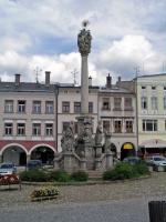 Trautenau, Marktplatz mit Denkmal