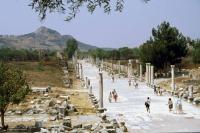 Ephesus, Römische Ausgrabungen, Straße zum Hafen