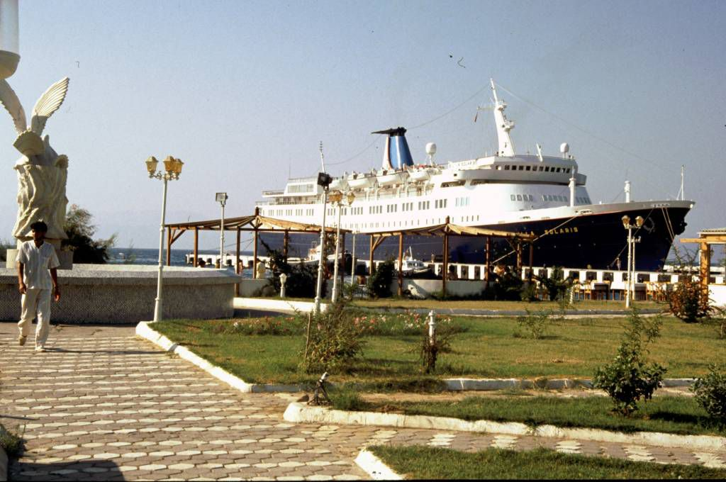 Kuşadasi, die Stella Maris im Hafen