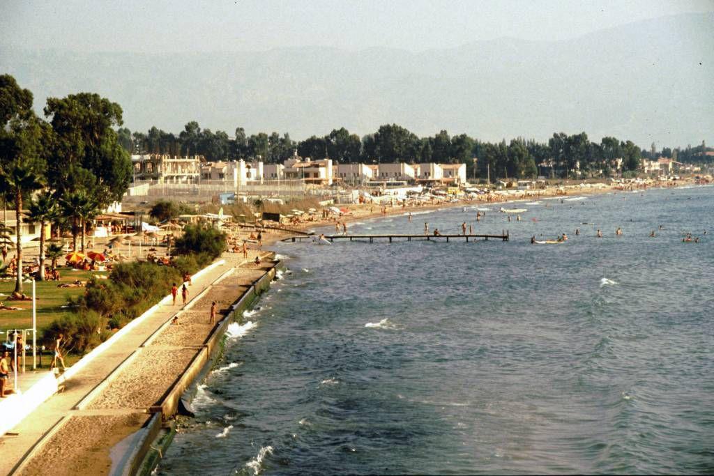 Kuşadasi, Hotel Club Diana, Blick auf den Kuşadasi Strand