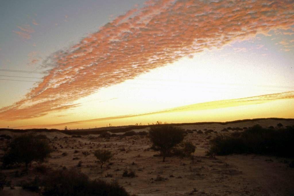Douz, Sonnenuntergang in der Sandwüste