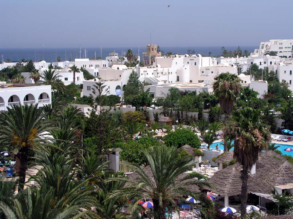 Blick vom Balkon des Kanta in Richtung Hafen von Port el Kantaoui