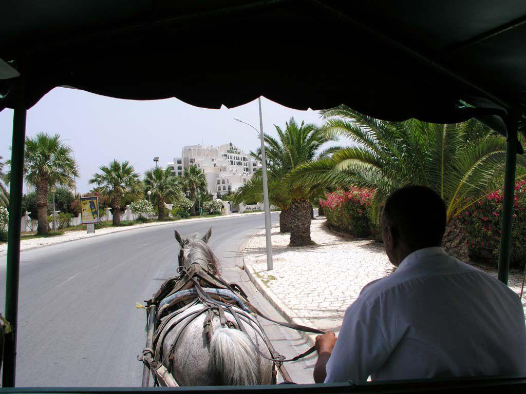 Rücktransport vom Strand zum Hotel