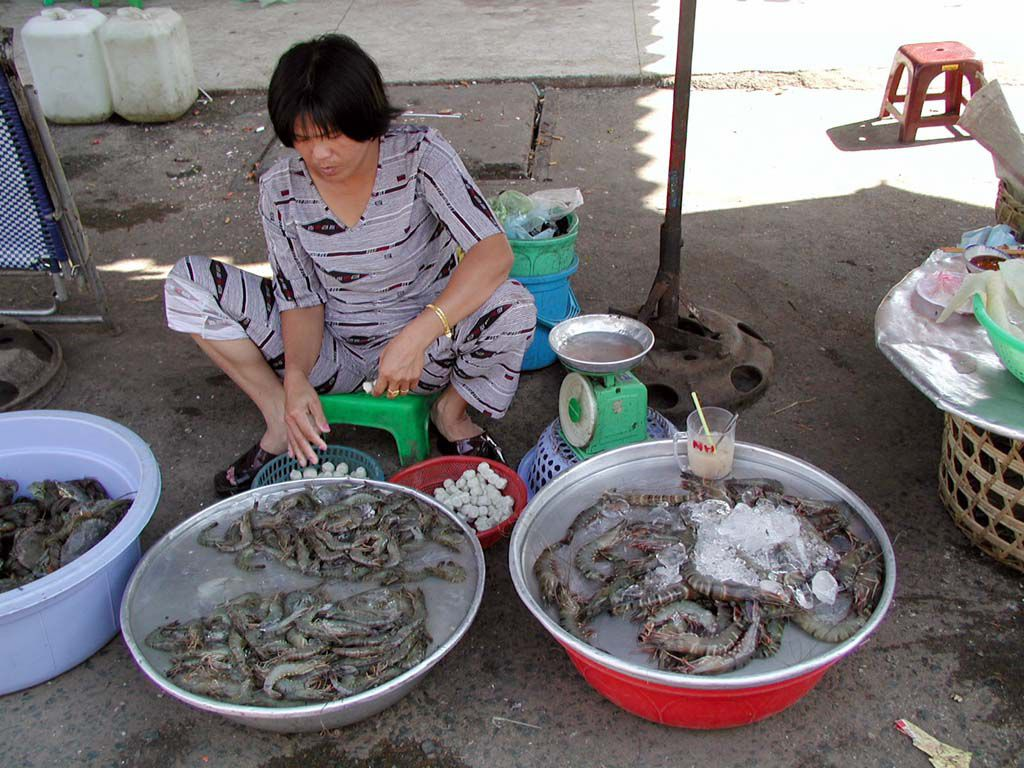 Markt in Saigon / Sai Gon