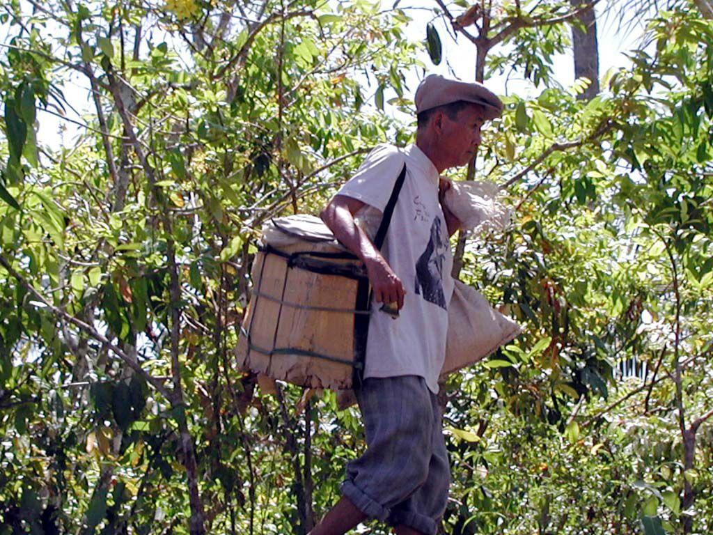 Eisverkäufer im Mekong Delta