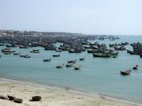 Fischerboote vor Mui Ne