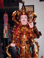 In einem Nebengebäude des Einsäulentempels, des Chua Mot Cot in Hanoi / Ha Noi