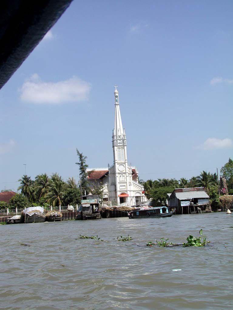 Katholische Kirche bei Cai Be im Mekong Delta
