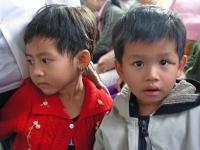 Kinder auf der Fähre nach Can Tho