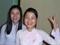Mui Ne, Rezeptionistinnen des Blue Ocean Resort