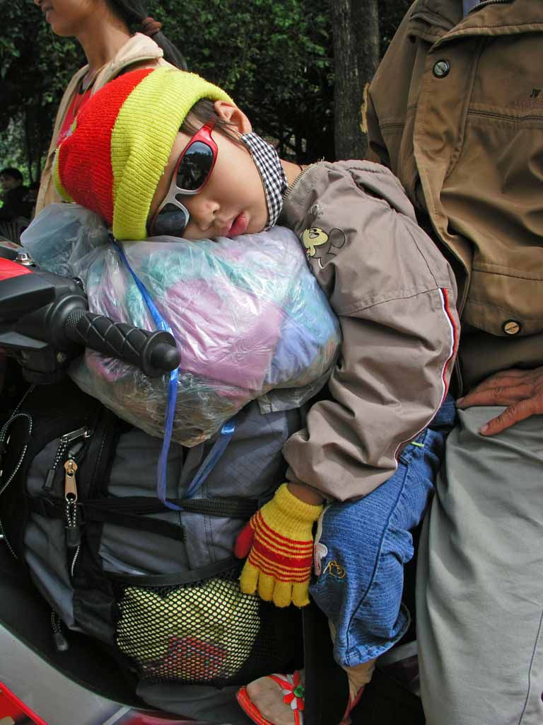 Nahe Da Nang, Motorrad fahren ermüdet