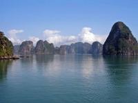 Felsformationen in der Halong Bucht