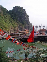 Halong Bucht, vor der Grotte der Wunder, der Hang Dau Go