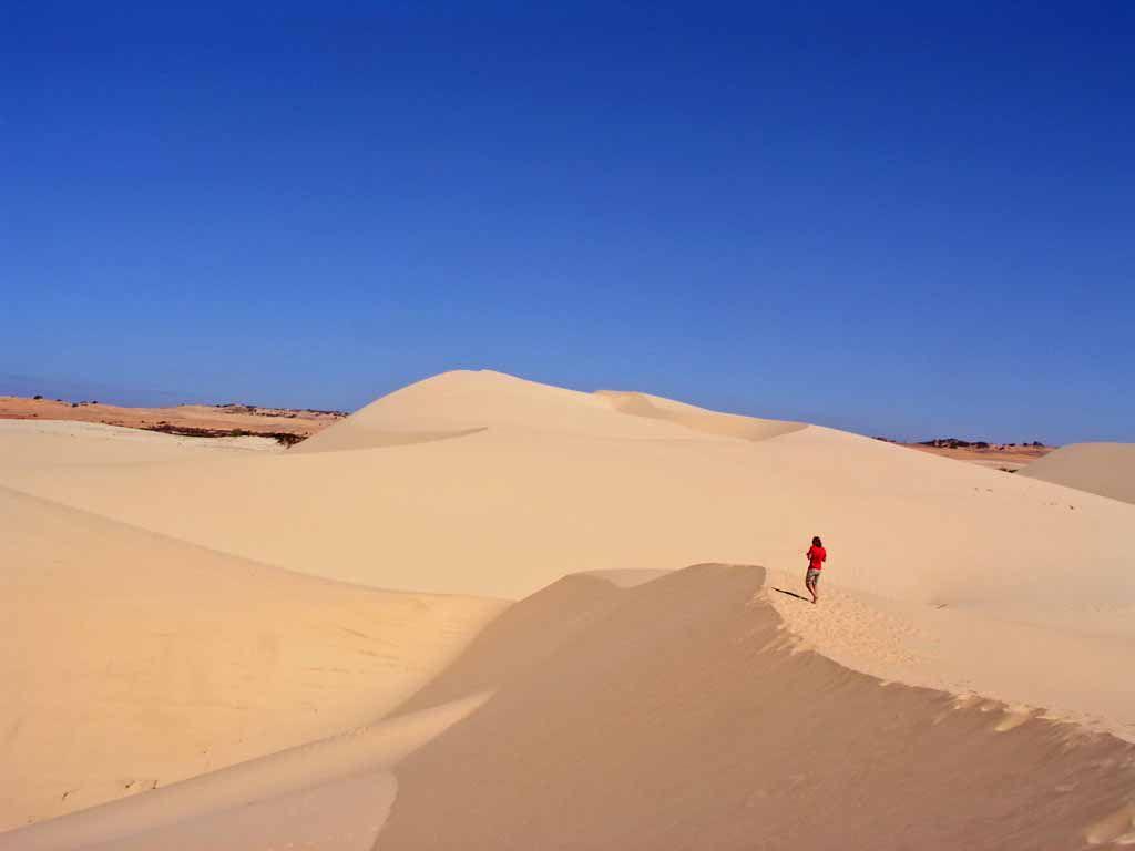Nördlich Mui Ne, in den weißen Dünen