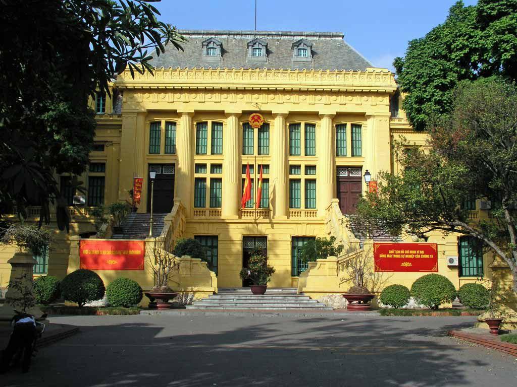 Hanoi, Gebäude in der Nähe des Melia Hotel