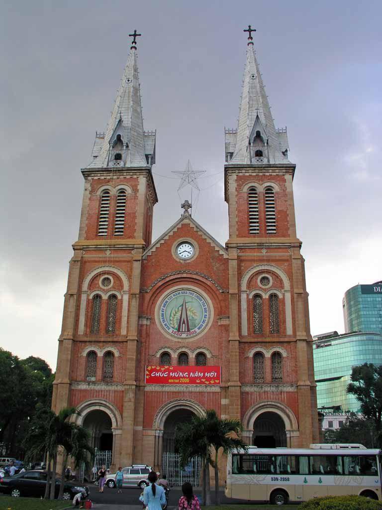 Saigon, Kathedrale, die Nha Tho Duc, die Kirche Unserer Lieben Frau