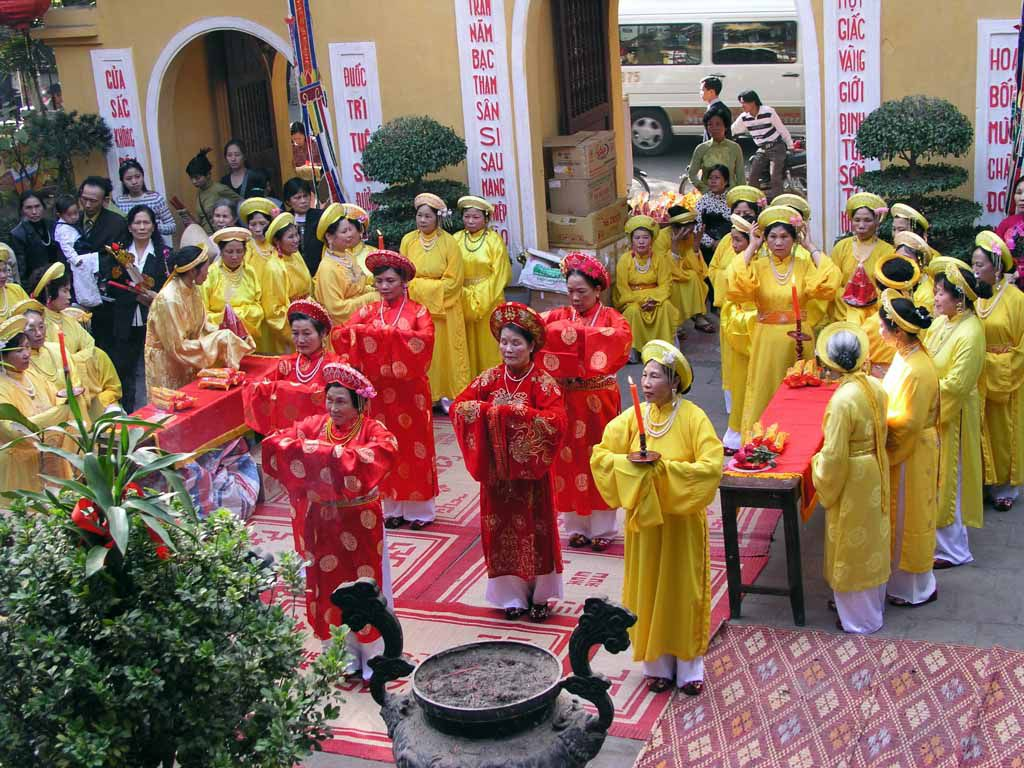 Hanoi, Quan Su Pagode, Feiern zum Neujahrsfest