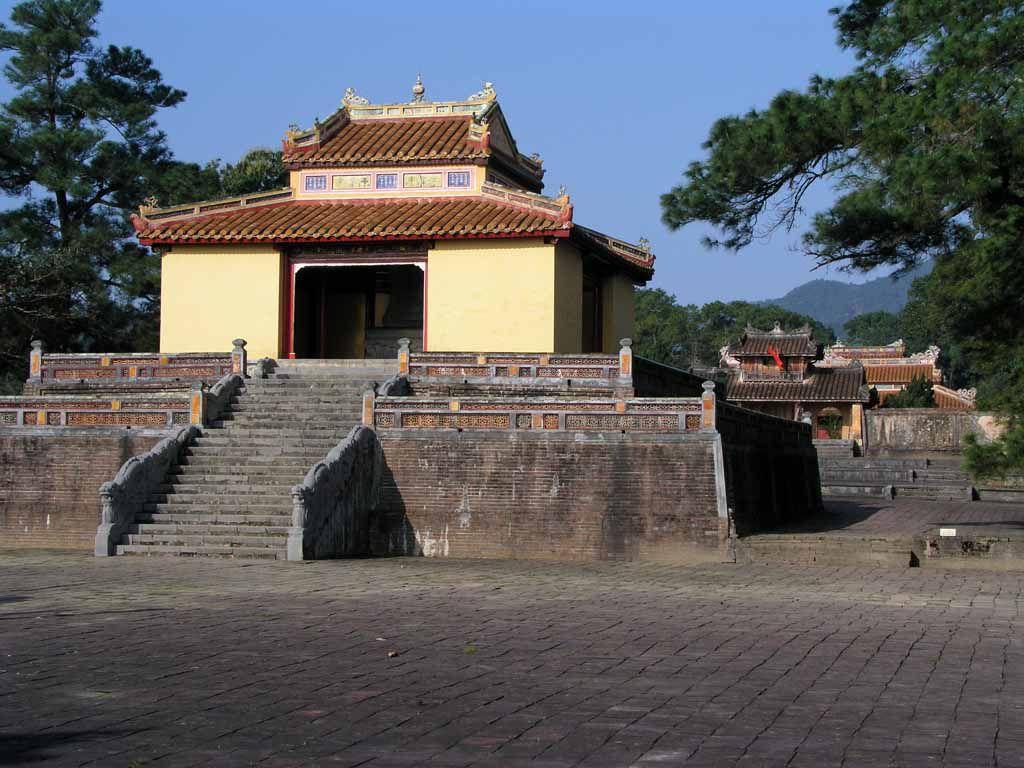 Hue, Eingang zur Grabanlage des Kaisers Minh Mang
