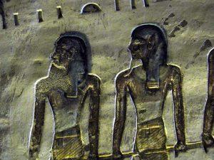 Zeichnung im Grab des Merenptah