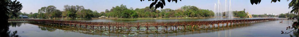 Yangon, Panoramablick über den Kandawgyi See