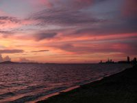 Sonnenuntergang im Pinnacle Resort Golden Beach in Jomtien