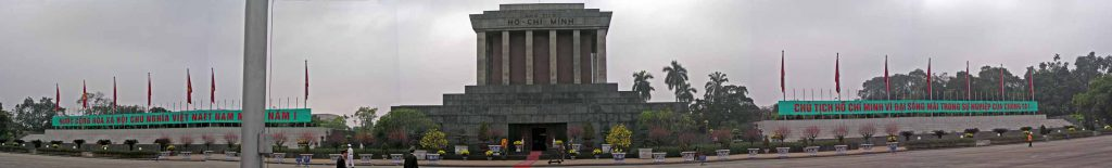 Hanoi / Ha Noi, Panorama des Ho Chi Minh Mausoleums / Lang Chu Tich Ho Chi Minh