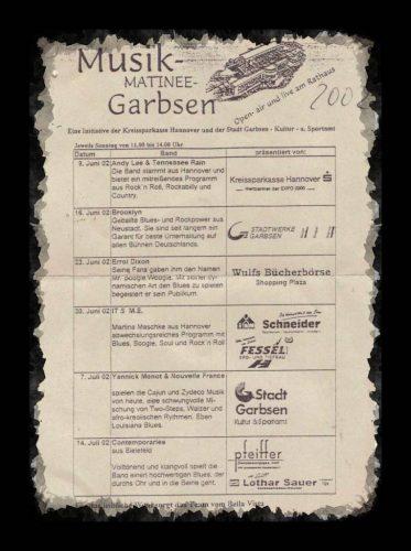 Programm der Musikmatinee Garbsen2002