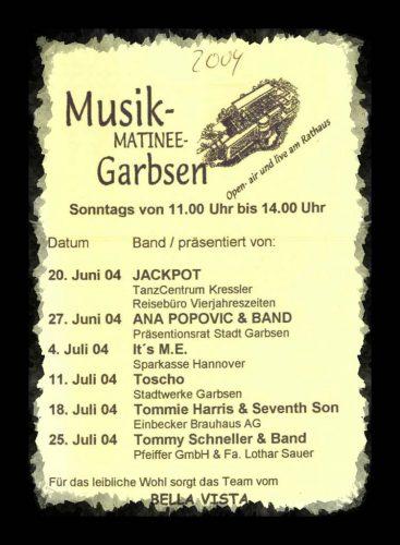 Programm der Musikmatinee Garbsen2004