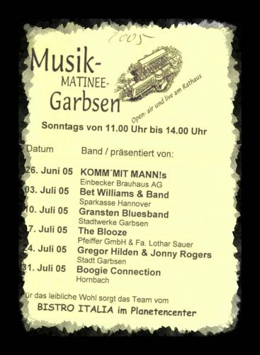 Programm der Musikmatinee Garbsen2005