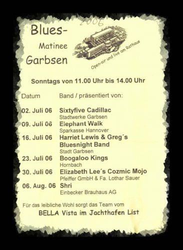 Programm der Musikmatinee Garbsen2006