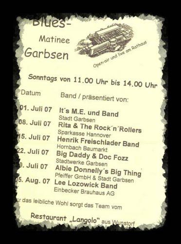 Programm der Musikmatinee Garbsen2007