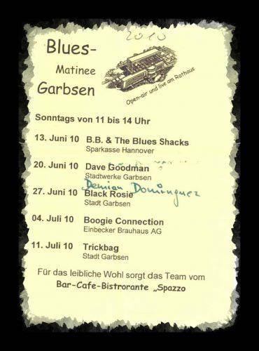 Programm der Bluesmatinee Garbsen 2010
