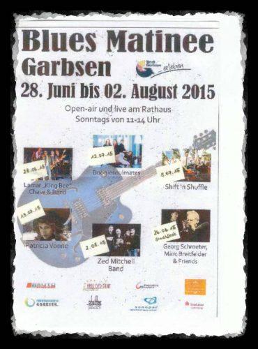 Programm der Blues Matinee Garbsen 2015