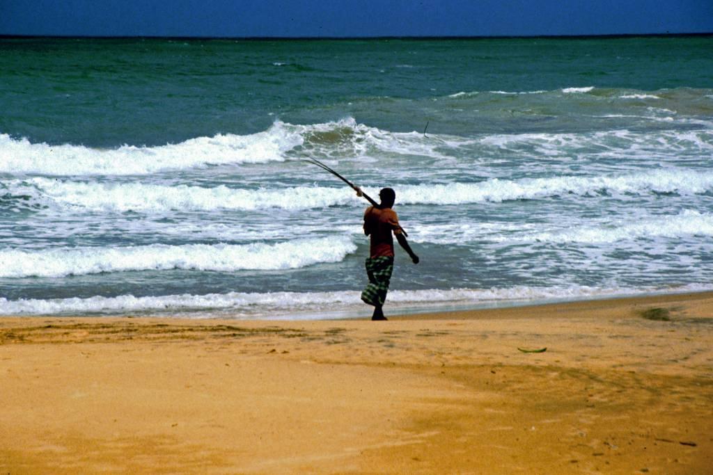 Sunils Beach Hotel, Strand mit Fischer