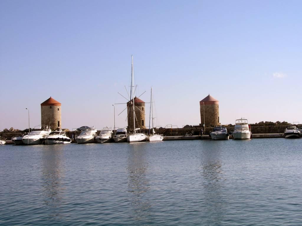 Rhodos Stadt, Windmühlen