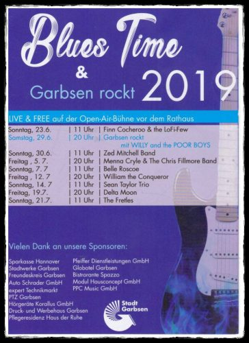 Programm der Blues Time Garbsen 2019