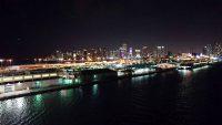 Miami, Hafenausfahrt bei Nacht