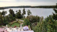 Sensburg, Hotel To-Tu, Blick auf den Schoss See