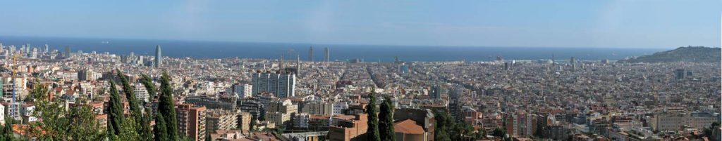 Barcelona, Panoramablick über die Stadt