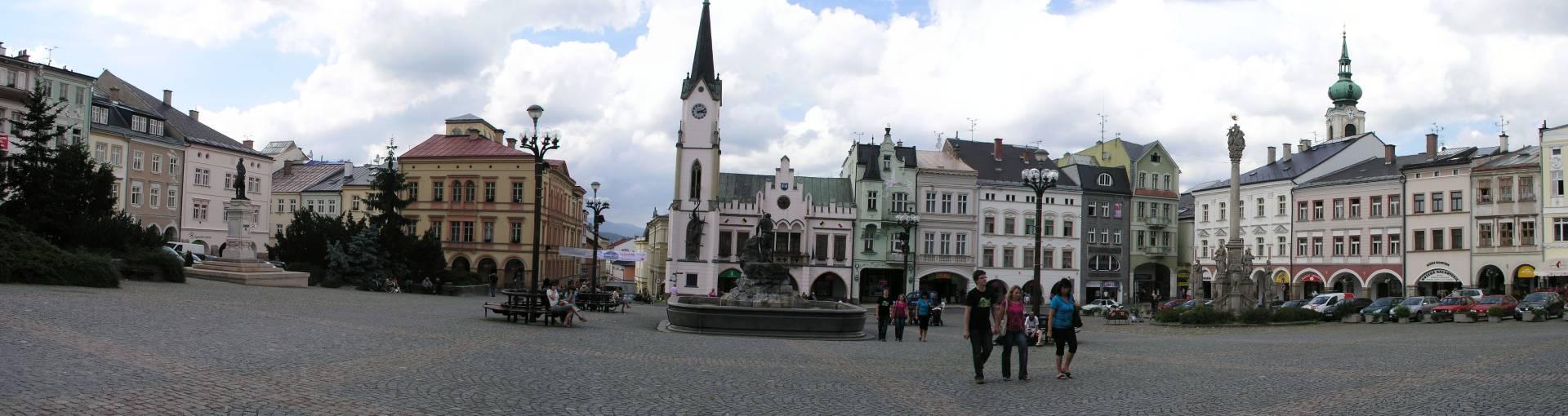 Trautenau, Panorama am Marktplatz